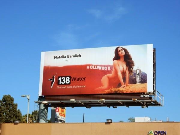 Naked Natalia Barulich 138 Water billboard