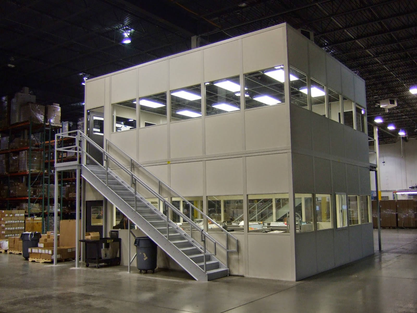 Warehouse office design and space creative office cubicle for Warehouse plans designs