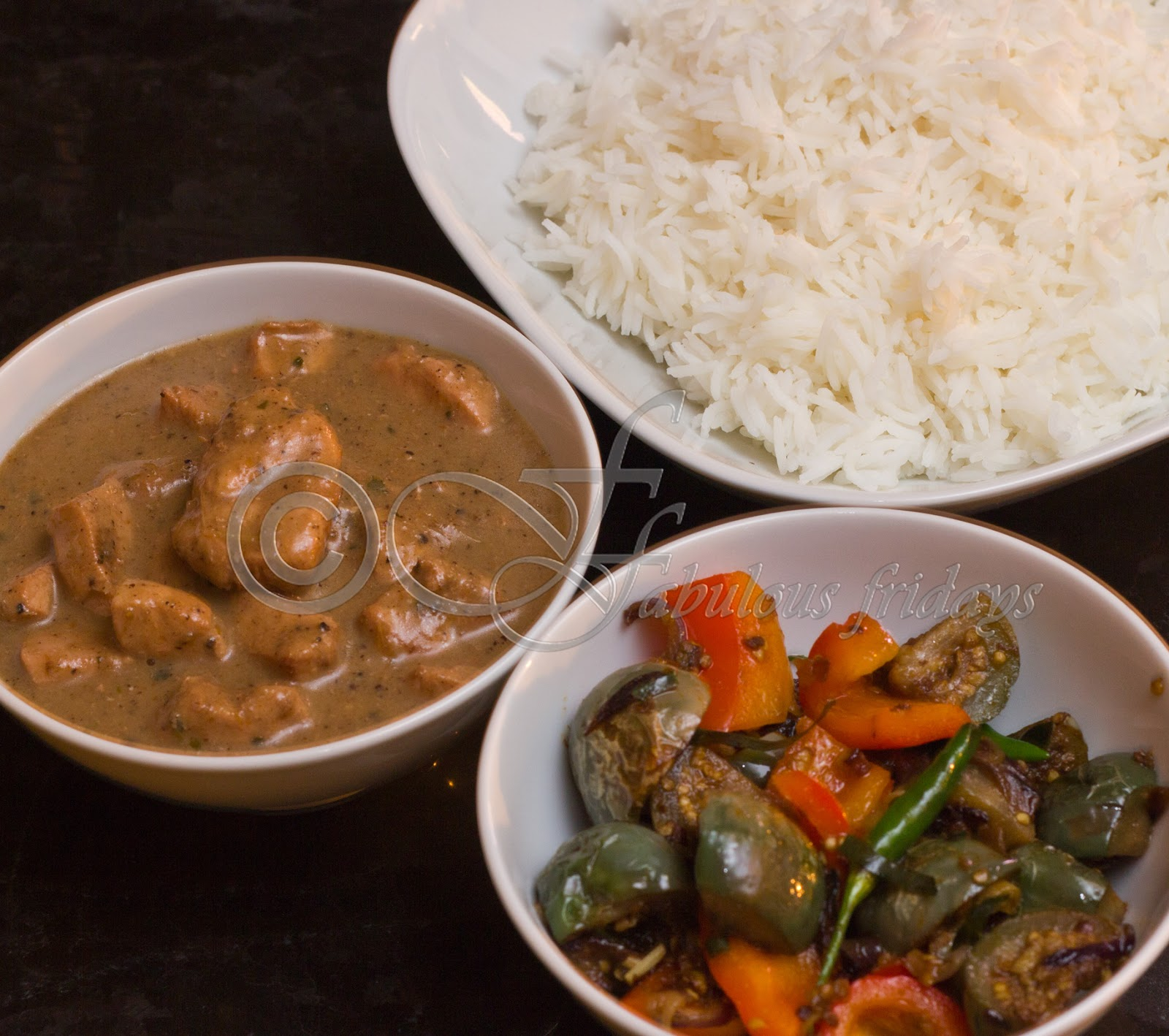 fabulous fridays: Massaman Chicken curry with Thai green eggplant