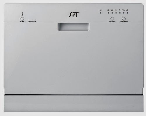 SPT Countertop Dishwasher White
