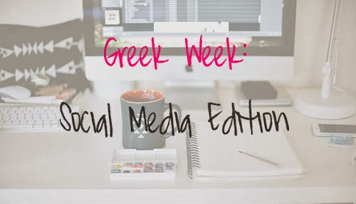 Sorority Greek Week: Social Media Edition