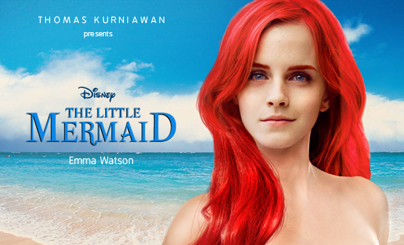 Emma Watson as the Little Mermaid