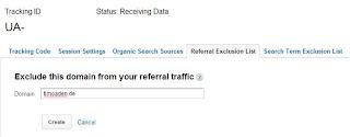Universal Analytics - Referrer ausschließen