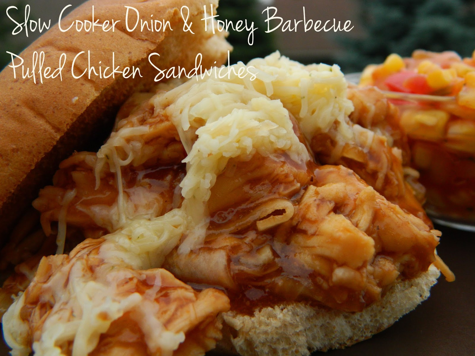 ... Things: Slow Cooker Onion & Honey Barbecue Pulled Chicken Sandwich