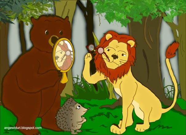 beruang-singa-landak-cermin-kacamata-bundar