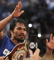 Pacquiao wins over Shane Mosley. Manny Pacquiao keeps WBO welterweight ...