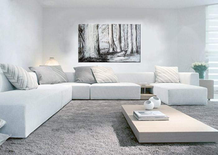 Azul blue cuadros y paredes i - Cuadros abstractos para salon ...
