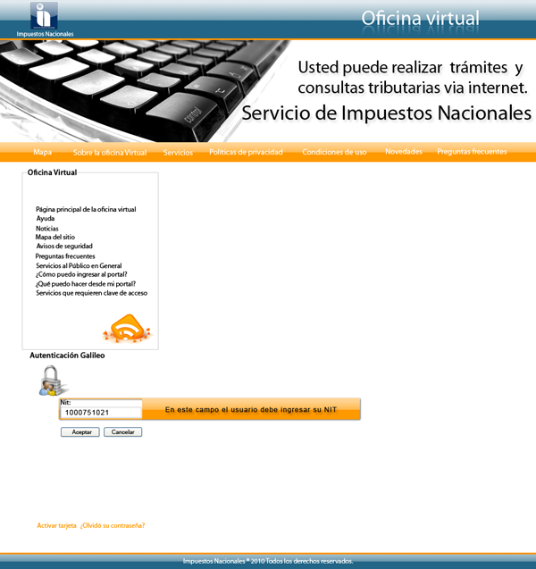 Oficina virtual sin precauciones y recomendaciones for Oficina virtual del