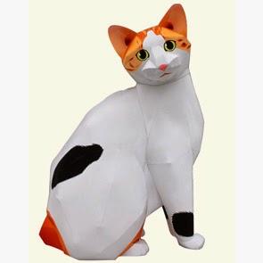 Cat Japanese Bobtail Papercraft