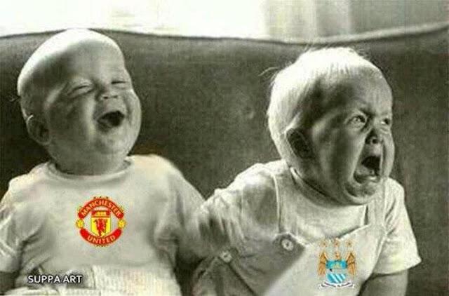 gambar lawak manchester united vs manchester city