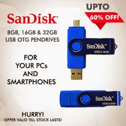 Buy Sandisk USB 2.0/3.0 OTG Flash Drives UPTO 60% OFF at Cubishop