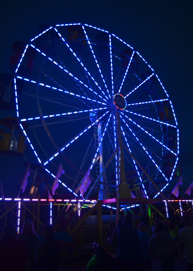 blue ferris wheel