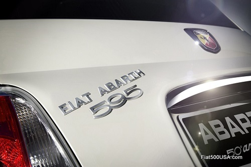 Abarth 595 '50th Anniversary' badge