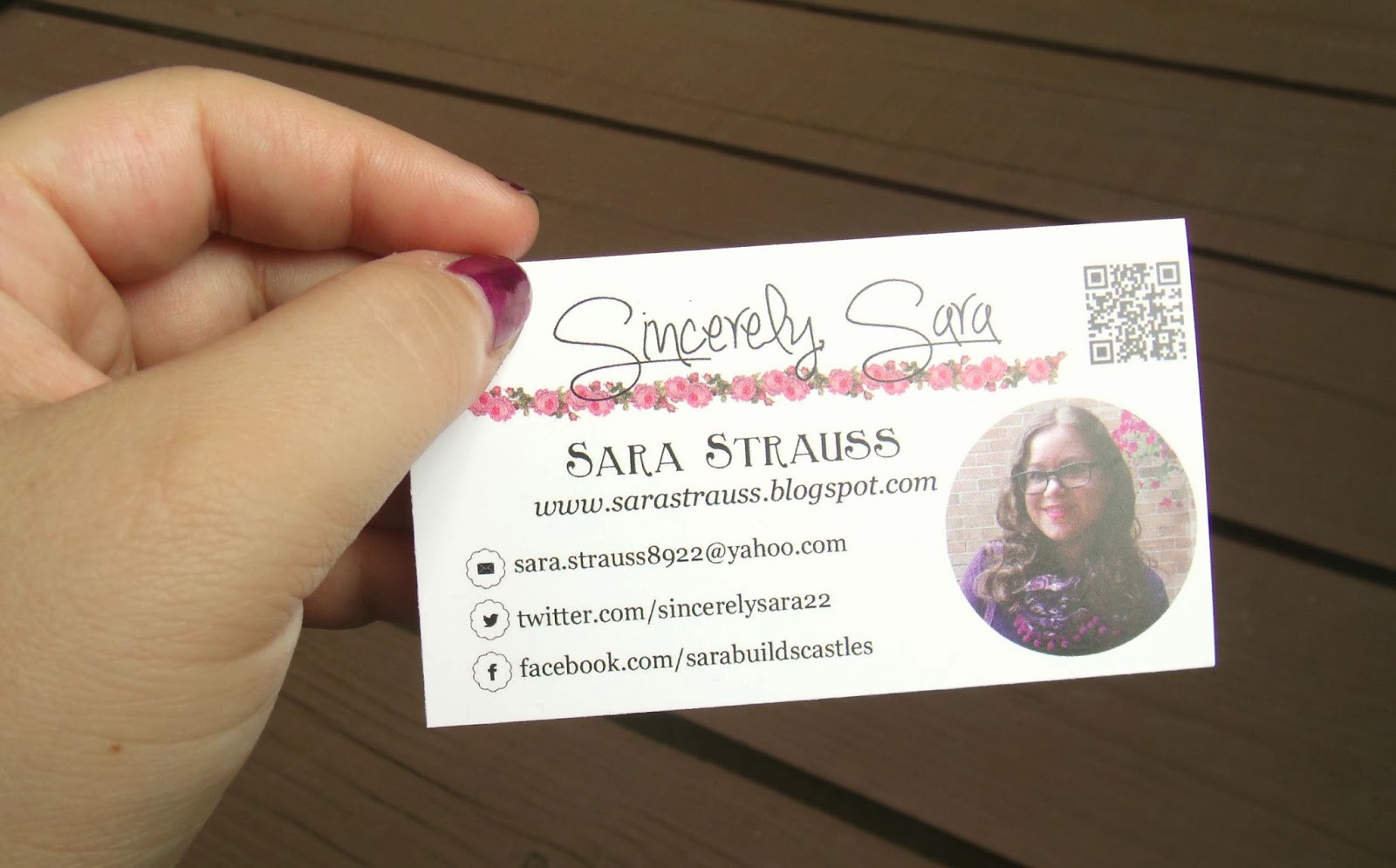 Sincerely, Sara | Style & Books: Blog Business Cards