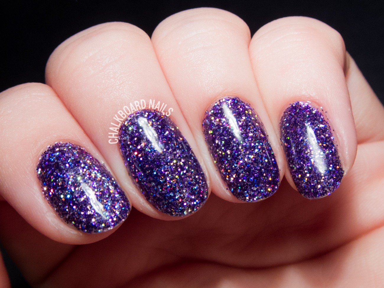 Purple Rockstar Gel Nails by @chalkboardnails