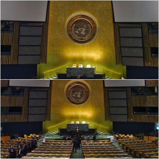 Economic and Social Council (ECOSOC) Chamber in the newly renovated Conference Building at United Nations Headquarter in New York, USA