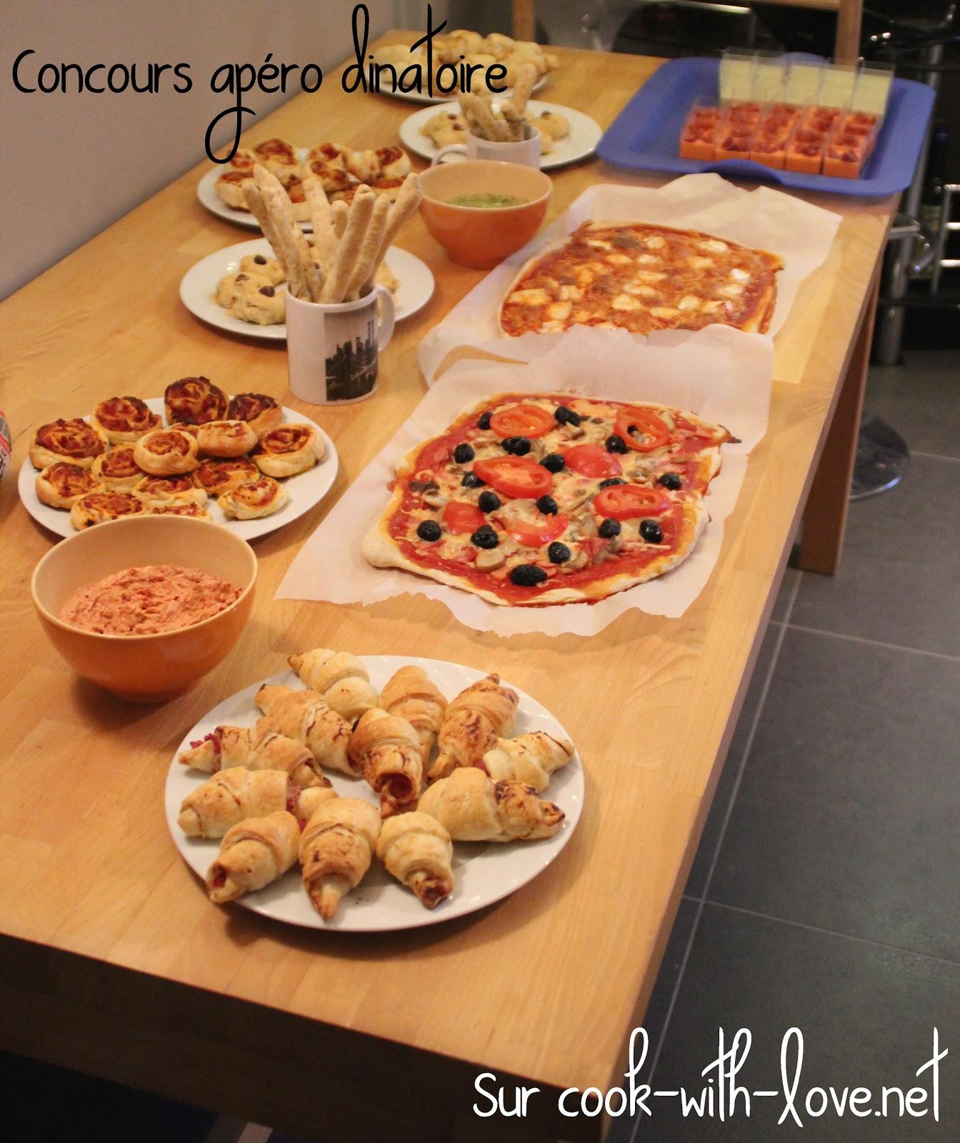Concours apero dinatoire participations et resultats cook with love - Apero dinatoire pour 20 personnes ...
