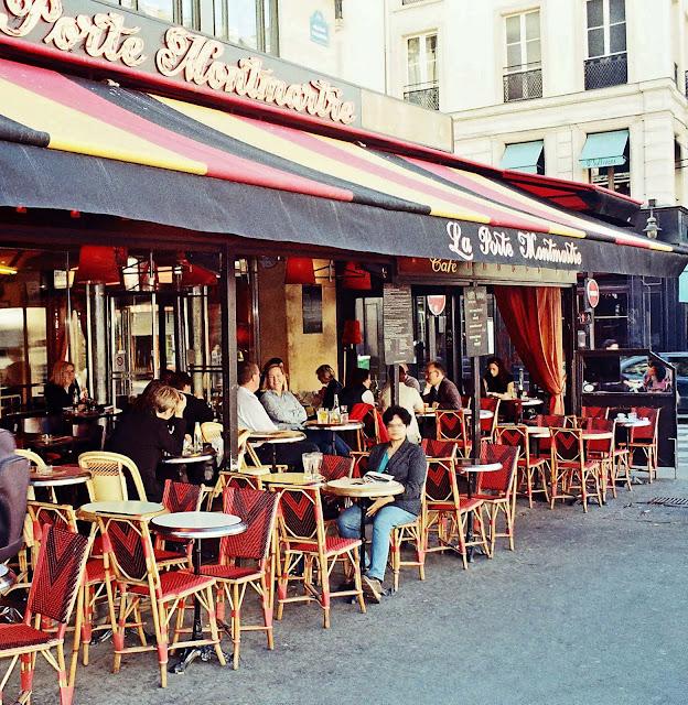 closeup of Paris cafe