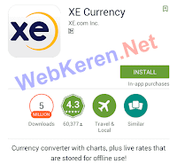 Aplikasi Traveling Android Terbaik Kalkulator Mata Uang XE Currency