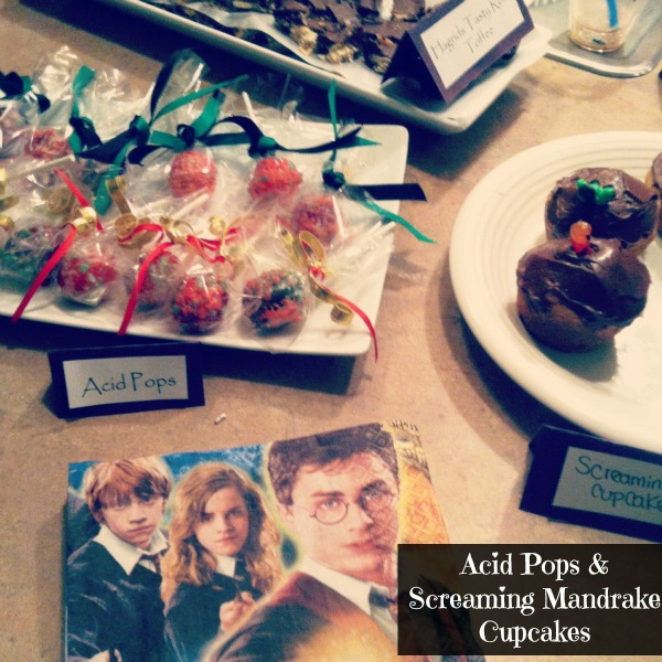 LPF Entertains: Harry Potter Party -Acid Pops & Screaming Mandrake Cupcakes