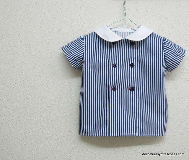 blusa para niño estilo marinero