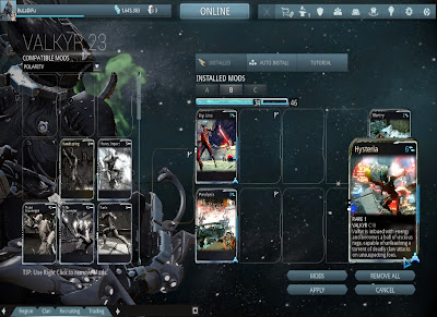 Warframe - Valkyr Power Cards
