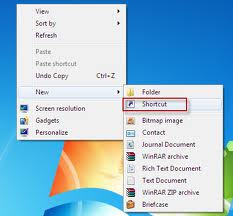 Creating a Shortcuts