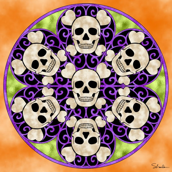 Dont Eat The Paste Skull Mandala To Color