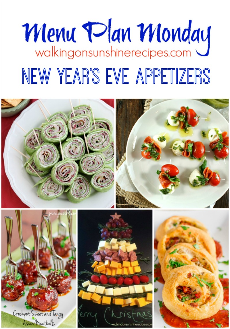 The perfect appetizers for a successful New Year's Eve party from Walking on Sunshine Recipes.