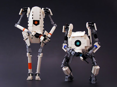 5632777635 c907c85d17 z Lego ATLAS and P Body (and turrets) from Portal