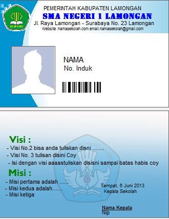 Barcode Kartu pelajar