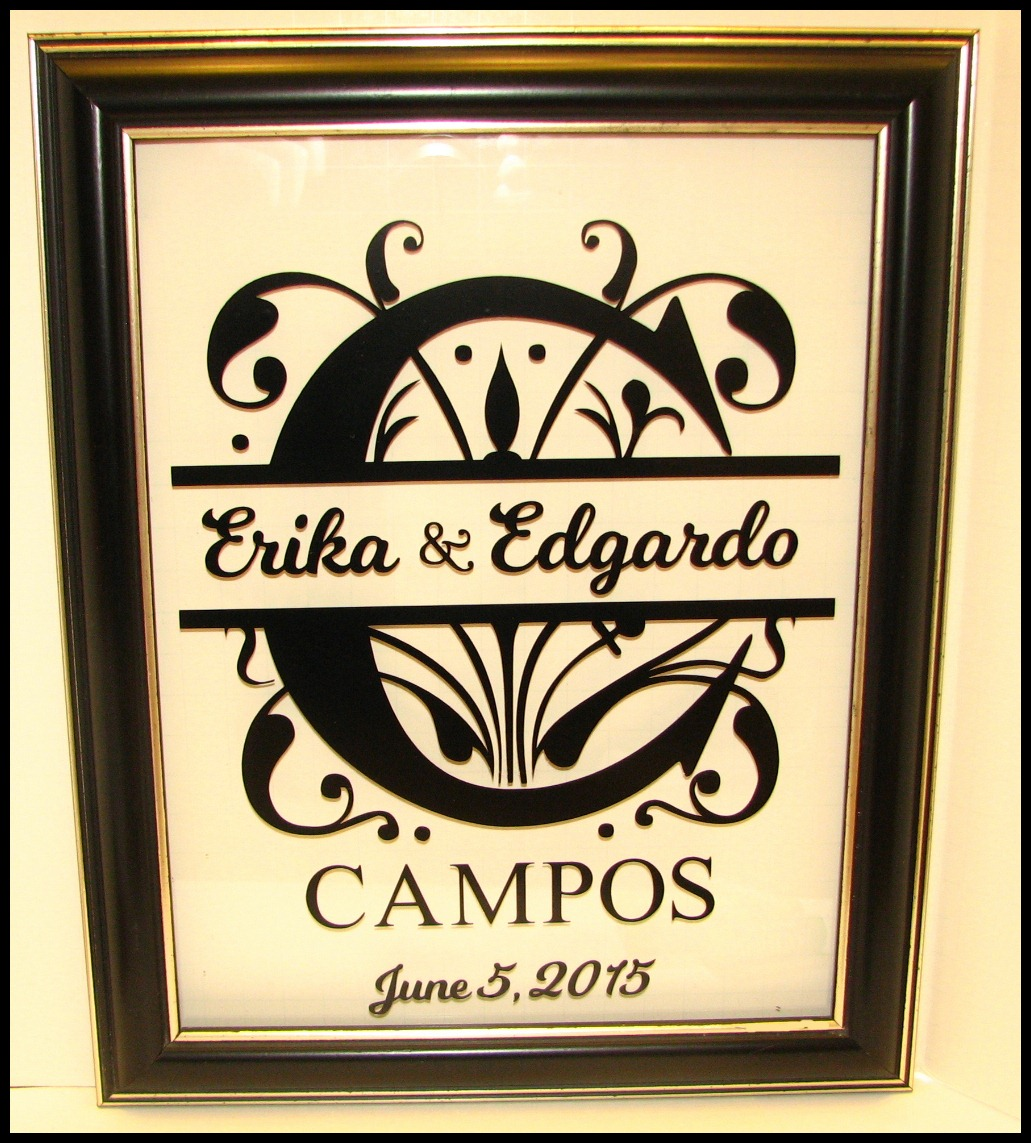 Quick And Easy Floating Frame Wedding Gift