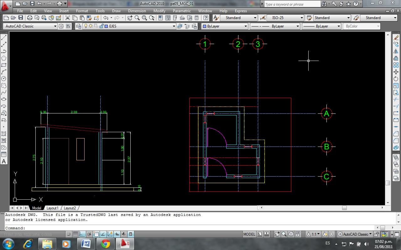 Dibujo De Proyectos Ejecutivos En La Industria Agosto 2011