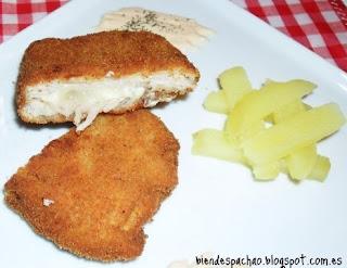 San Jacobo de queso de cabra