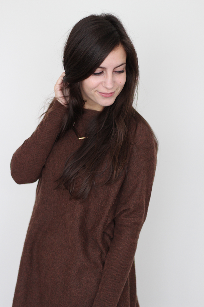 Brown Jumper Dress Slouchy Primark How to wear Cheap