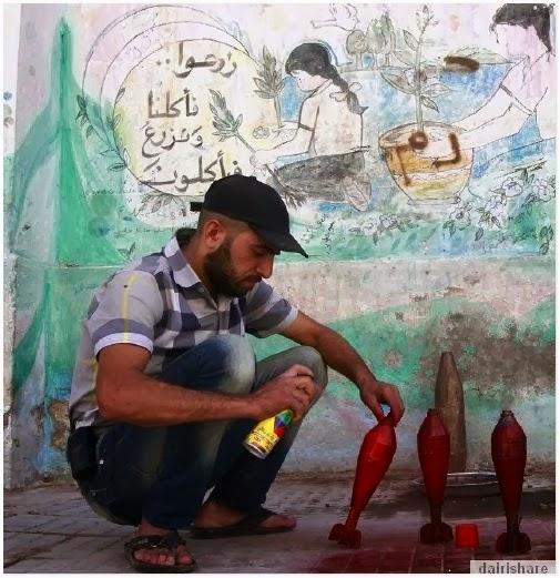 jom lihat sejata buatan tangan pejuang syria