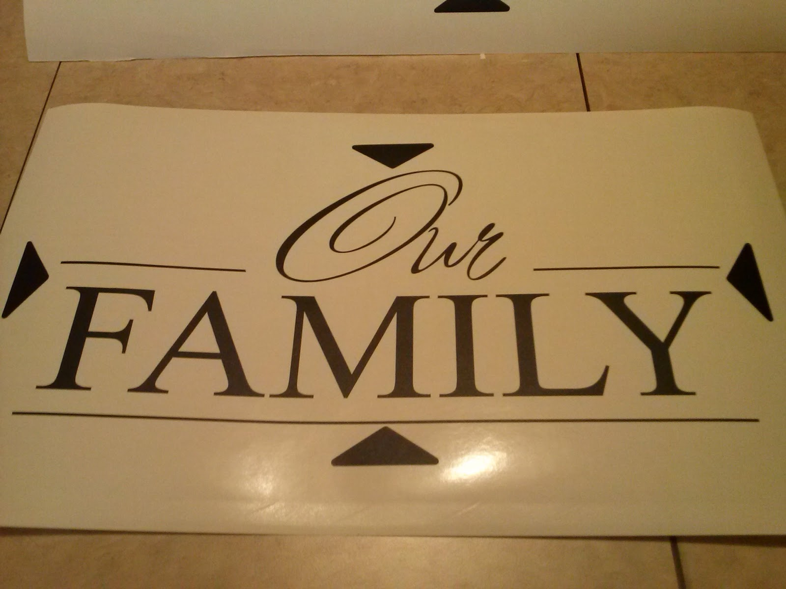 Vinyl Wall Decal Our Family