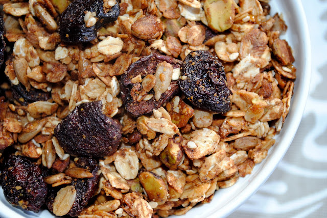 Make this Pistachio Cherry Granola for the most delicious and healthy breakfast you'll eat all week! It's gluten-free and vegan, too!