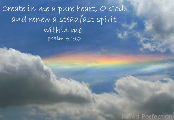 Psalm 51:10 Rainbow streaks in sky