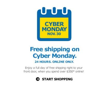IKEA Cyber Monday Free Shipping