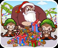Game khỉ con trộm quà, chơi game vui nhộn online