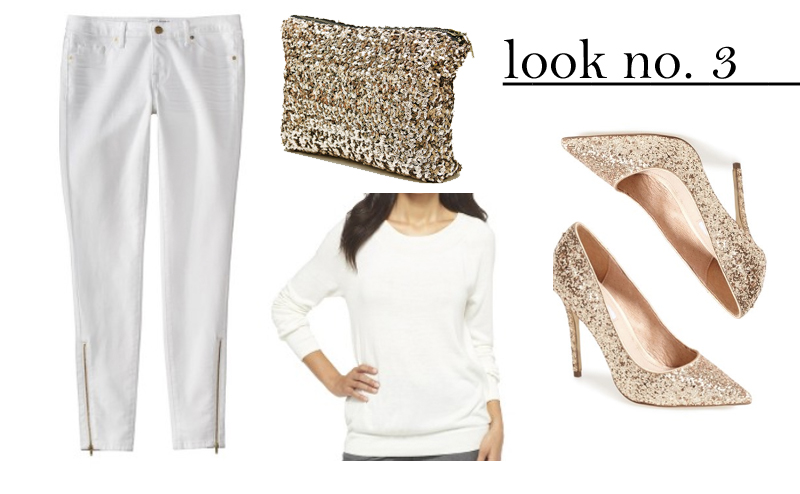 winter white target outfit gold details