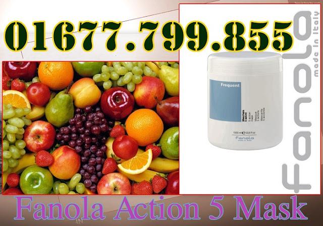 Hấp Dầu Fanola chiết xuất từ axit trái cây sợi tóc sẽ trở nên khỏe hơn