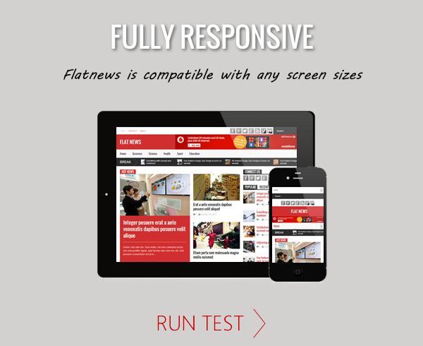 Flat News – Responsive Magazine WordPress Theme - Responsive