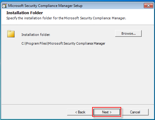 04 security compliance manager installation folder