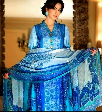 Gul Ahmed Summer Dresses 2014