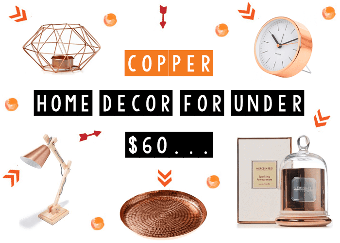copper errthang copper home decor for under 60 - Copper Home Decor