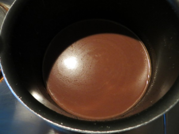 melted chocolate sauce