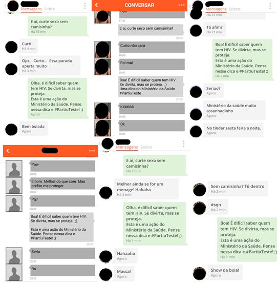 Perfil fictício conversa com usuários do aplicativo Hornet Foto: Reprodução