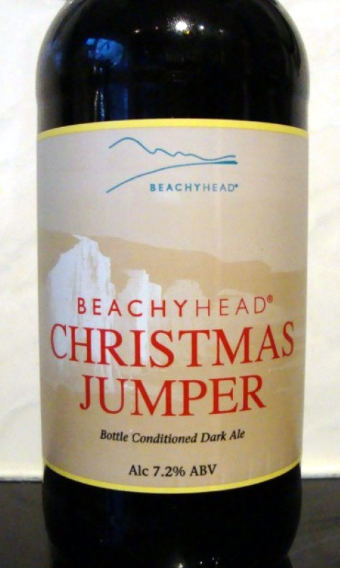 Beachy Head Christmas Jumper, bottle conditioned dark ale